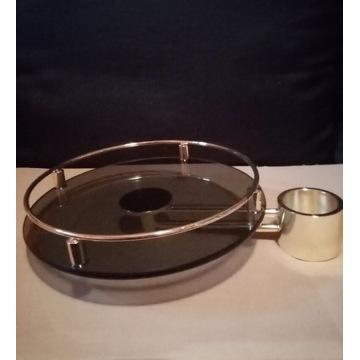 Półka szklana na wysięgniku ⌀ 300 do rury ⌀ 60