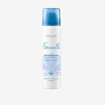 Odświeżający dezodorant do higieny intymnej Femine