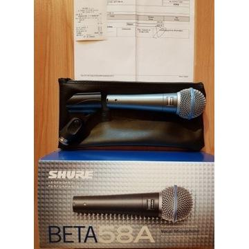 Mikrofon dynamiczny  Shure Beta 58A Oryginał !!!