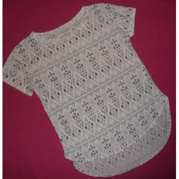 H&M logg bluzka ze wzorkiem rozmiar 146 152