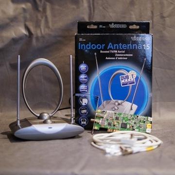 Antena wewnętrzna i karta telewizyjna - zestaw