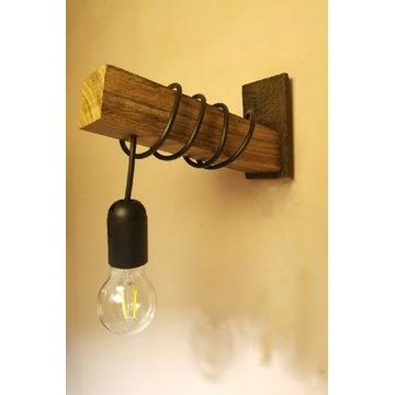 Lampa ścienna kinkiet drewniana styl loft HOMEMADE