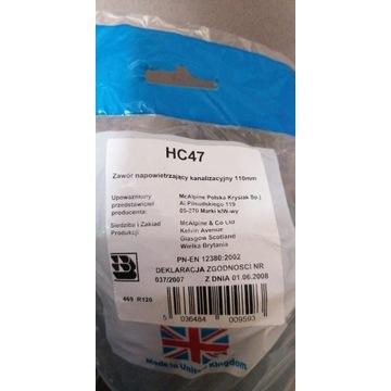 Zawór napowietrzający kanalizacyjny 110mm. HC47 MC