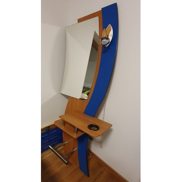 Konsola fryzjetska lustro fotel hydrauliczny