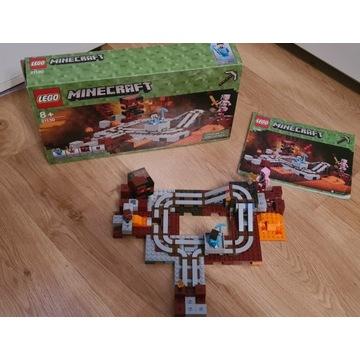 Klocki LEGO Minecraft Linia kolejowa w Netherze