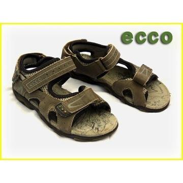 Sandałki Ecco w kolorze zielony khaki rozm. 29