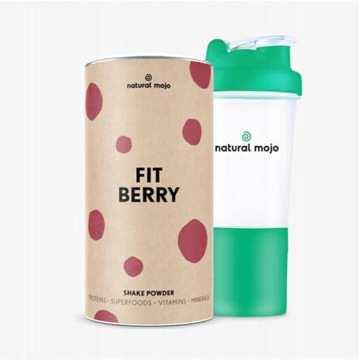 NATURAL MOJO FIT SHAKE-Zestaw Fit Berry + shaker