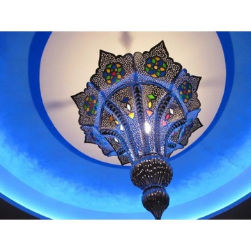 Oryginalny marokański klosz lampy sufitowej