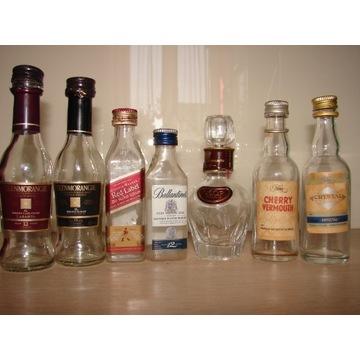 Miniaturki whisky - puste