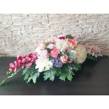 Duża Kompozycja Kwiaty Stroik na Cmentarz Wiązanka