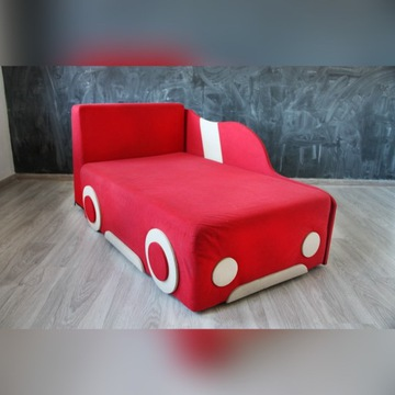 SOFA AUTKO Black Red White