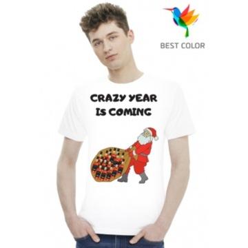 T-shirt koszulkaCRAZY YEAR IS COMING Śmieszne 2021