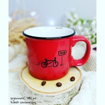 Kubek ceramiczny, ręcznie malowany