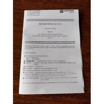 Unitra M 9115 instrukcja schemat