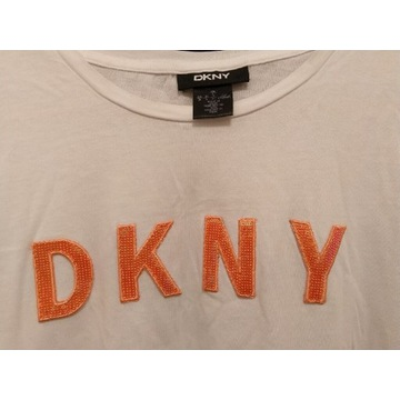 DKNY koszulka t-shirt L biały