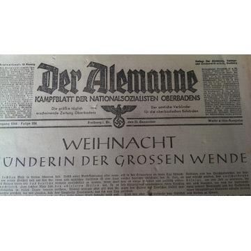 Gazeta Hitlerowska  Nazizm Der Alemanne swastyka