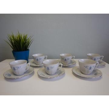 Zestaw kawowy porcelanowy Wałbrzych PRL Vintage