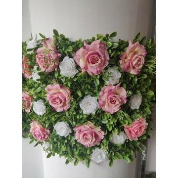 Panel ścienny sztuczne kwiaty