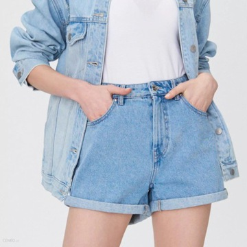 Jeansowe shorty mom fit, SINSEY