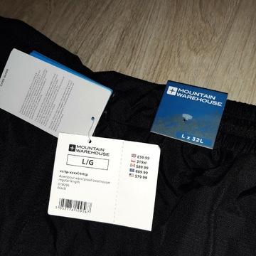 Mountain  Warehause spodnie L przeciwdeszczowe