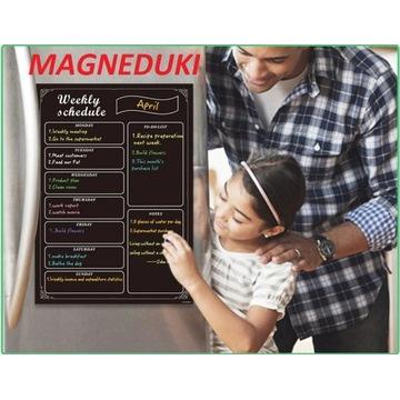 MAGNEDUKI Tablica magnetyczna zadania kuchnia dom