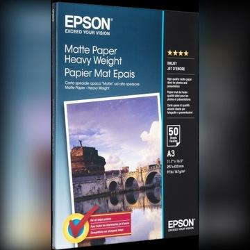 Papier EPSON Matte Paper Heavy Weight 1 szt=30 pln