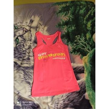 Koszulka sportowa bokserka neonowy róż m