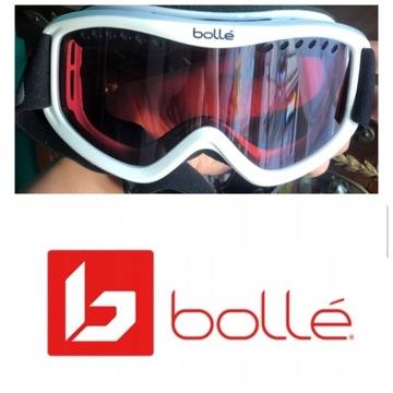 Gogle narciarskie Bollé, biało czerwone, Okazja!