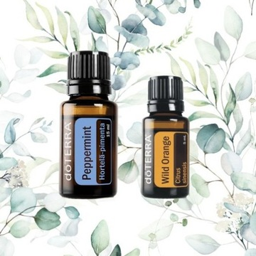 DoTerra olejek PEPPERMINT 15ml + Wild Orange 5ml
