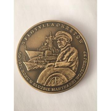 Medal okolicznościowy 40 lecie 3 Flotylli Okrętów