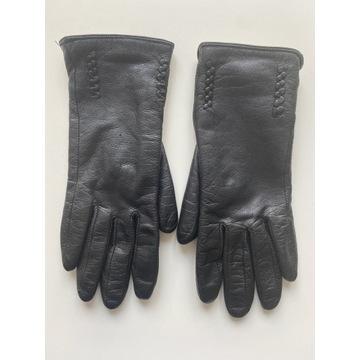 Skórzane zimowe rękawiczki, roz S