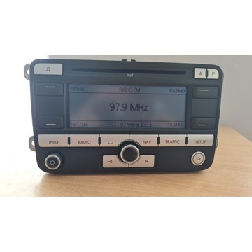 Radio Vw Cd MP3 Touran 05-11 z kodem 1K0035191D