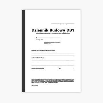 10 x Dziennik budowy DB1 A4 36 stron 18 org.+kop.