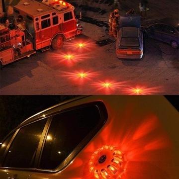 Kogut lampa błyskowa flara bezpiecznie na drodze