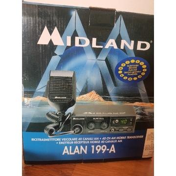 Radio CB Allan Midland + antena 145cm magnetyczna