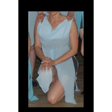 Jasnoniebieski strój do tańca modern, jazz 38 M