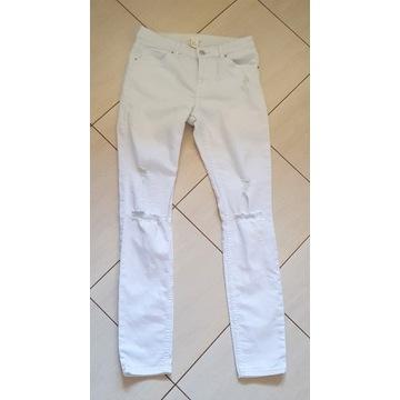* * * Białe spodnie H&M r. 38 * * *