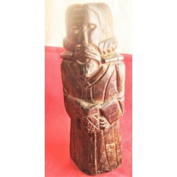 ŚWIĄTEK stara ludowa rzeźba w drewnie malowana