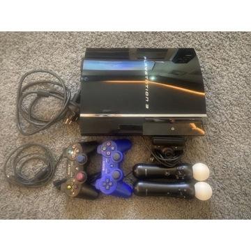 PS3 ZESTAW 2 PADY, kamera move,kontroler ruchu,GRY