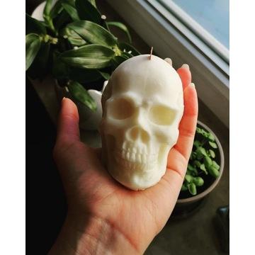 Świeczka sojowa czaszka truskawka i banan