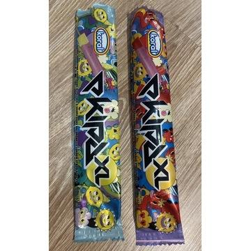 Lody Ekipa XL papierki truskawkowy i cytrynowy