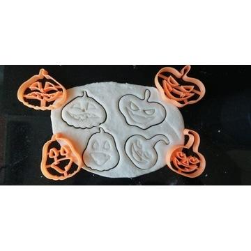 Foremki do ciastek Halloween dynie, 4 sztuki