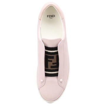 FENDI 8E6852 skórzane różowe sneakersy 38 ORYGINAŁ
