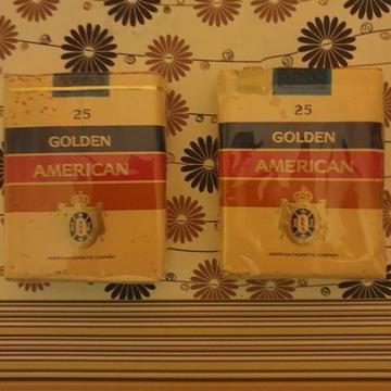 Stare papierosy Golden American Oryginalne PRL