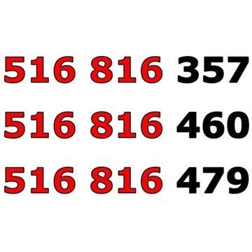 516 816 xxx ORANGE ŁATWY ZŁOTY NUMER STARTER x 3