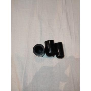 Zatyczka Kapturek silikonowy 12mm, 2x16mm czarny