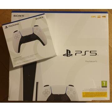 Nowa Playstation 5 PS5 + dodatkowy pad - od ręki