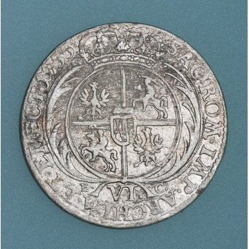 szóstak 1755, Lipsk August III Sas
