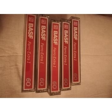 5 kaset magnetofonowych BASF Ferro  Extra 60