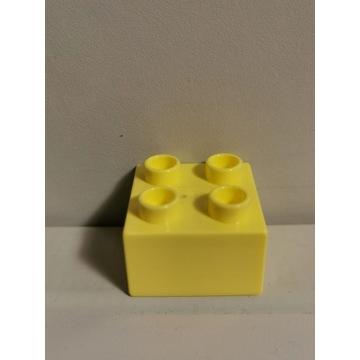 LEGO DUPLO oryginalny klocek kanarkowy żółty 2x2